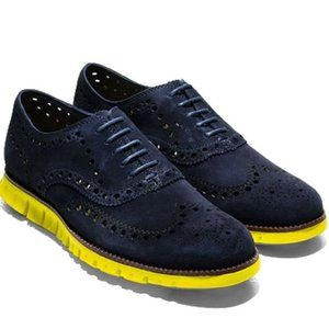 Cole Haan Zerogrand Wing Oxfords in Blue